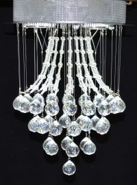 Pendente de Cristal K9 4 Lampada AU04