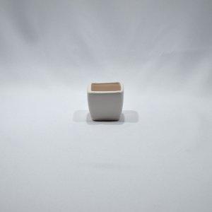 Vaso de Ceramica Branco 4,5x5x5,5 DR02