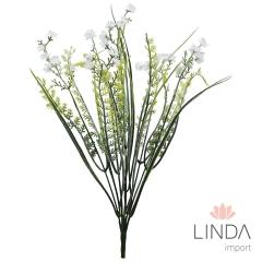 Complemento Verde de Flor C/ 5 Galhos e Mix de Cores BD01