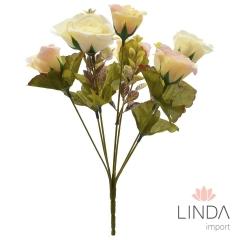 Mini Buque de Rosa C/7 Galhos e Mix de Cores BI33