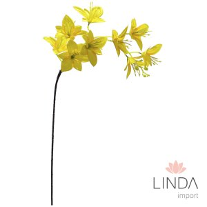 Haste Orquidea Amarela C/9 Flores CF36