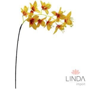 Haste Orquidea Laranja C/9 Flores CF37