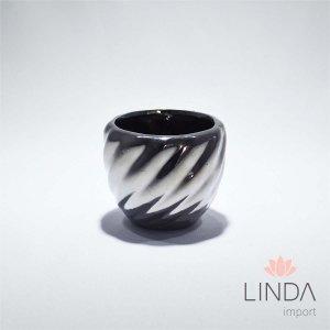 Vaso de Cerâmica Cromado 6,5x7,5 DR15