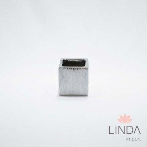 Vaso de Cerâmica Cromado 6x6 Linda Import DR13