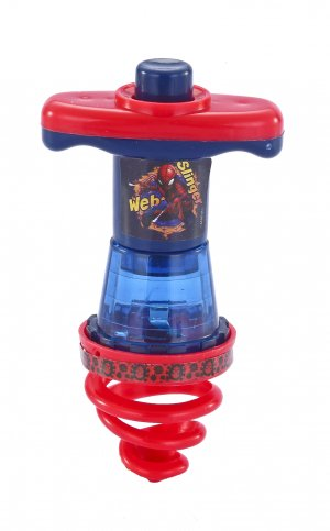 Pião Espiral Luminoso do Spider Man EDY042
