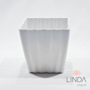 Vaso de Melamina Branco 12x12x12 EF03
