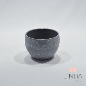 Vaso de Melamina Cinza 6x7 EF09