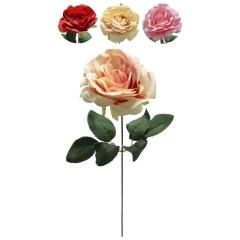 Haste de Rosa C/ 1 Flor e Mix de Cores BF17