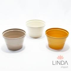 Vaso de Plástico de 12cm C/ Mix de Cores EK01