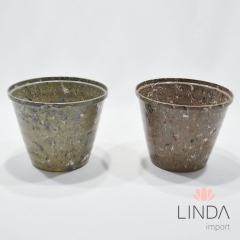 Vaso de Plástico Granito de 15cm C/ Mix de Cores  EK02