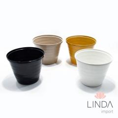 Vaso de Plástico de 15cm C/ Mix de Cores EK03