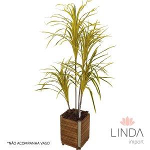 Planta Artificial Dracena de Madagascar Amarela 125cm EJ02