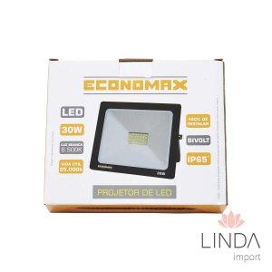 Projetor Led 220V 30W 6500K ECONOMAX FT09