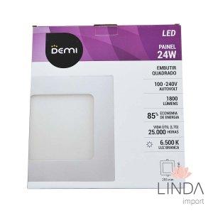 Luminaria Painel Led 100-240V Embutir 300 Quadrado 24W 6500K FS08