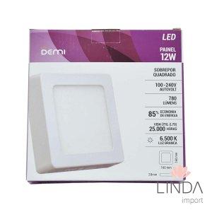 Luminaria Painel Led 100-240V Sobrepor 170 Quadrado 12W 6500K FS09