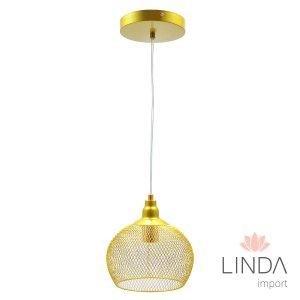 Pendente de Metal Dourado 20x18 FN14