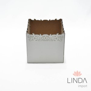Cachepô Quadrado de Madeira 12x10 FV08