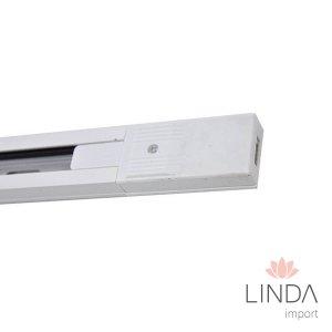 Trilho Branco QDR de Aluminio 2P c/1M FW06