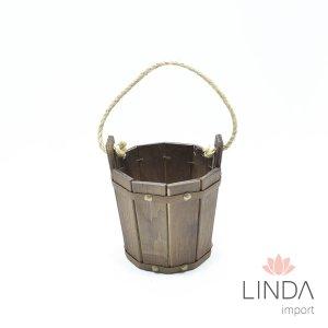 Balde De Madeira C/ Corda 14x27 GC05