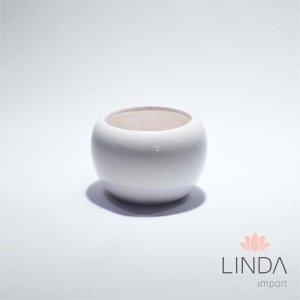 Vaso de Ceramica Branco 6X5 DR03