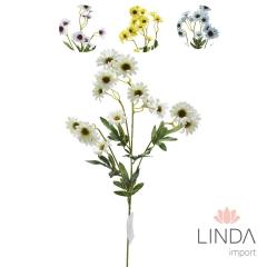 Haste de Mini Flor C\4 Galhos e Mix de Cores Du02