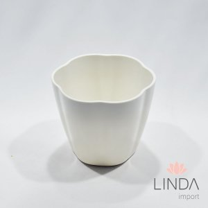 Vaso de Melamina Branco 14X17 Ef04