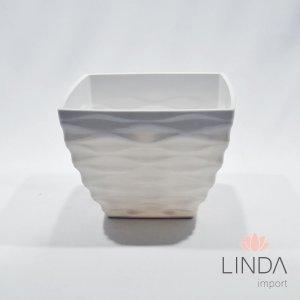 Vaso de Melamina Branco 20X20X15 Ef06