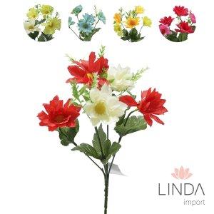 Mini Buque de Flores C\5 Galhos e Mix de Cores Eu01