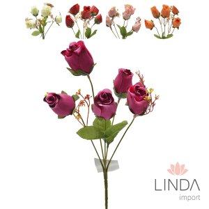 Mini Buque de Rosas C\5 Galhos e Mix de Cores Eu11