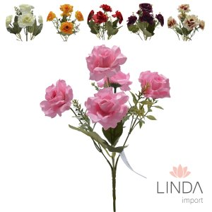 Mini Buque de Rosas C\5 Galhos e Mix de Cores Eu14
