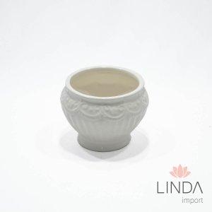 Vaso de Ceramica Branco 11X8 FH11