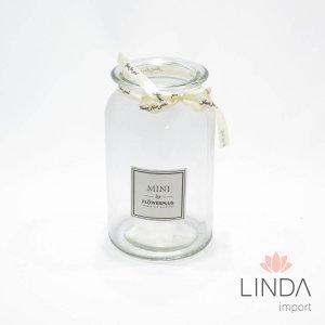 Vaso de Vidro Transparente 18X10 Fi01