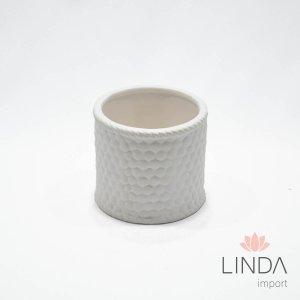 Vaso de Ceramica Branco 10X9 DR44