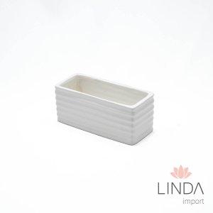 Vaso de Ceramica Branco 16X7 DR45