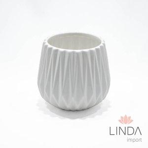 Vaso de Ceramica Branco 13X14 DR47