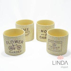 Vaso de Ceramica Mix Cores 12X12 DR48