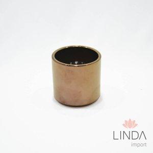 Vaso de Ceramica Dourado 8X8 FH15