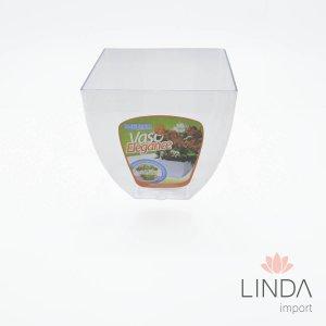 Vaso Elegance Pequeno Cristal Incolor 16X15 370 GQ09